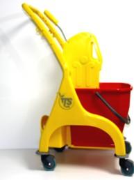 Carro-Fregar-con-ruedas-y-premsa-escurridora-TTS 25 litros