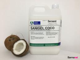 Sanigel Coco gel neutro para el lavado de manos 5 litros