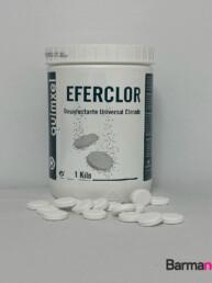 Desinfectante clorado en pastillas 1 kilo, Eferclor,