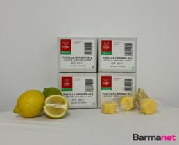 Pastillas urinario higinitizantes perfume a limón 40 gr. caja de 2 kilos.