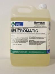 NEUTROMATIC, Detergente neutro para máquinas fregadoras, espuma controlada,