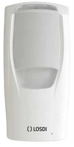 dosificador de pared automático a pilas para gel o jabón 900 ml blanco LOSDI