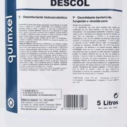 Desinfectante Hidroalcohólico Bactericida Fungicida Vírucida DESCOL 5 litros