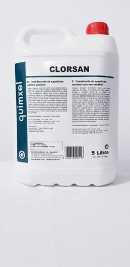 desinfectante clorado superficies clorsan 5 litros con registro sanitario AEMPS