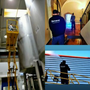 limpiezas industriales, limpiezas en altura